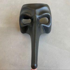 Venetian Masquerade Black Mask Long Nose Joker